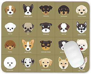 20Cartoon Puppy Perros–alfombrilla de ratón alfombrilla de ratón juegos alfombrilla de ratón Mousepad de goma antideslizante Felpudo