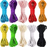 109 Yards 2.0 mm Multicolor Beading Elastic Cord Thread Stretch String Crafting Handmade DIY String for Sewing and Bracelets, Necklace, Jewelry Making