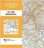 Saarbrücken: Topographische Karte 1 : 200 000 CC7102 (Topographische Übersichtskarten 1:200000)