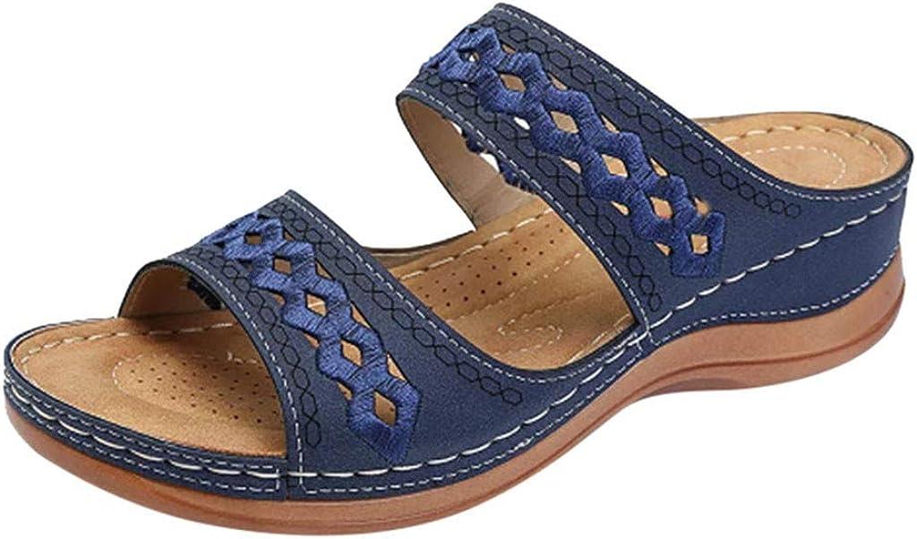 FakMe Women's Hollow Sandal Women's Slide Sandal Women's Comfort