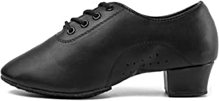 DKZSYIM Boy's&Kid's Professional Latin Dance Shoes Ballroom Jazz Tango Waltz Performance Shoes