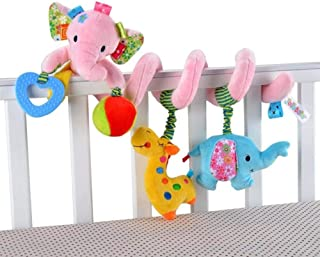 Hanging Stroller Toys for Car Seat Baby Stroller Plush Toys Elephant Decoration Toy for Infants Toddlers