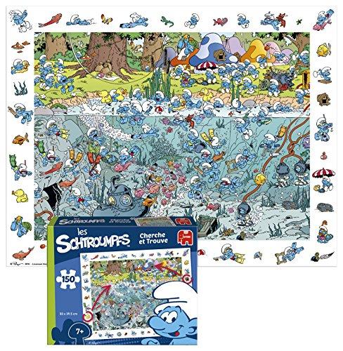 Diset Schlümpfe Suchbild-Puzzle