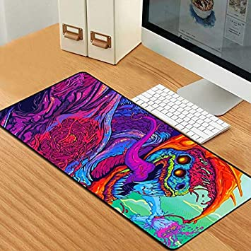 GSOLOYL Gaming Mouse Pad Computer Gamer CS GO Keyboard Mouse Mat Hyper Beast Desk Mousepad for PC (Color : 001)