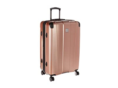 Kenneth Cole Reaction 28 Continuum Lightweight Hardside Expandable 8-Wheel Spinner Checked Luggage (Rose Gold) Luggage