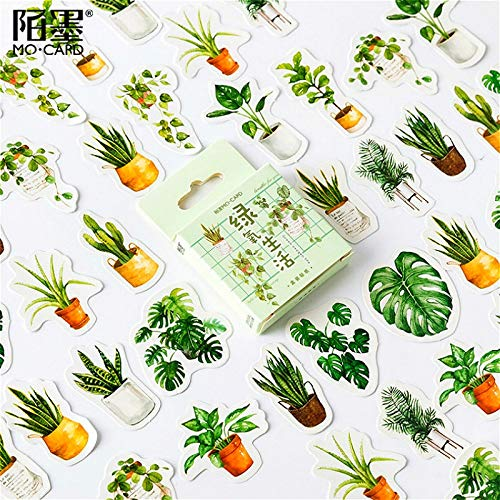 BLOUR 40 Stück Kawaii Green Oxygen Life Scrapbook Aufkleber Scrapbooking Pads Papier Origami Kunst Hintergrund Papier Karte Herstellung DIY Scrapbook