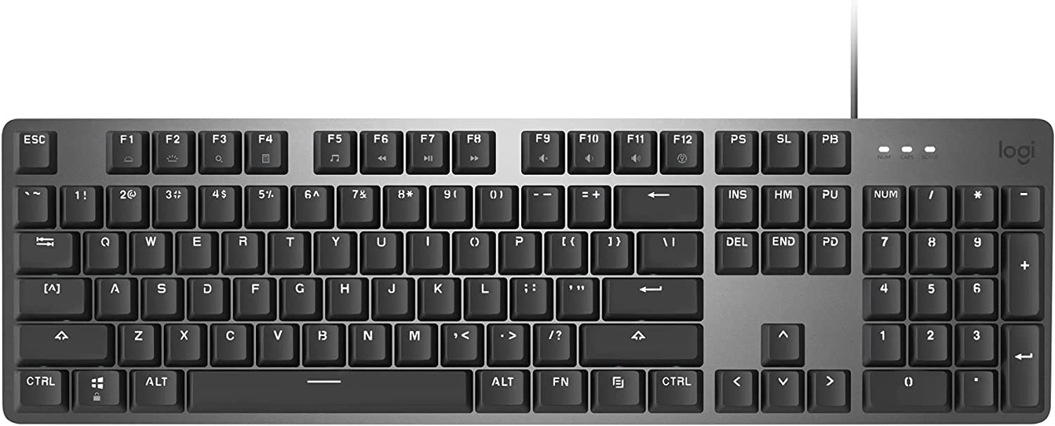 Logitech K845 Illuminated Keyboard (Blue Switches) with Logitech G305 Gaming Mouse and Knox Gear 4 Port USB Hub Bundle (3 Items)