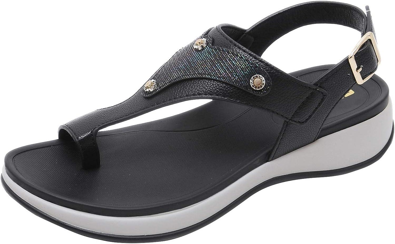 Insun Women's Beach Summer Flip Flop Thong Ankle Wrap Flat Sandals
