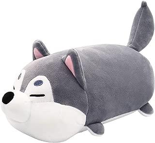 Stuffed Animal Pillow, Husky Dog Plush, Super Soft Plush Cuddle Pillow  Plush Toy for Boy Girl, Gray 11