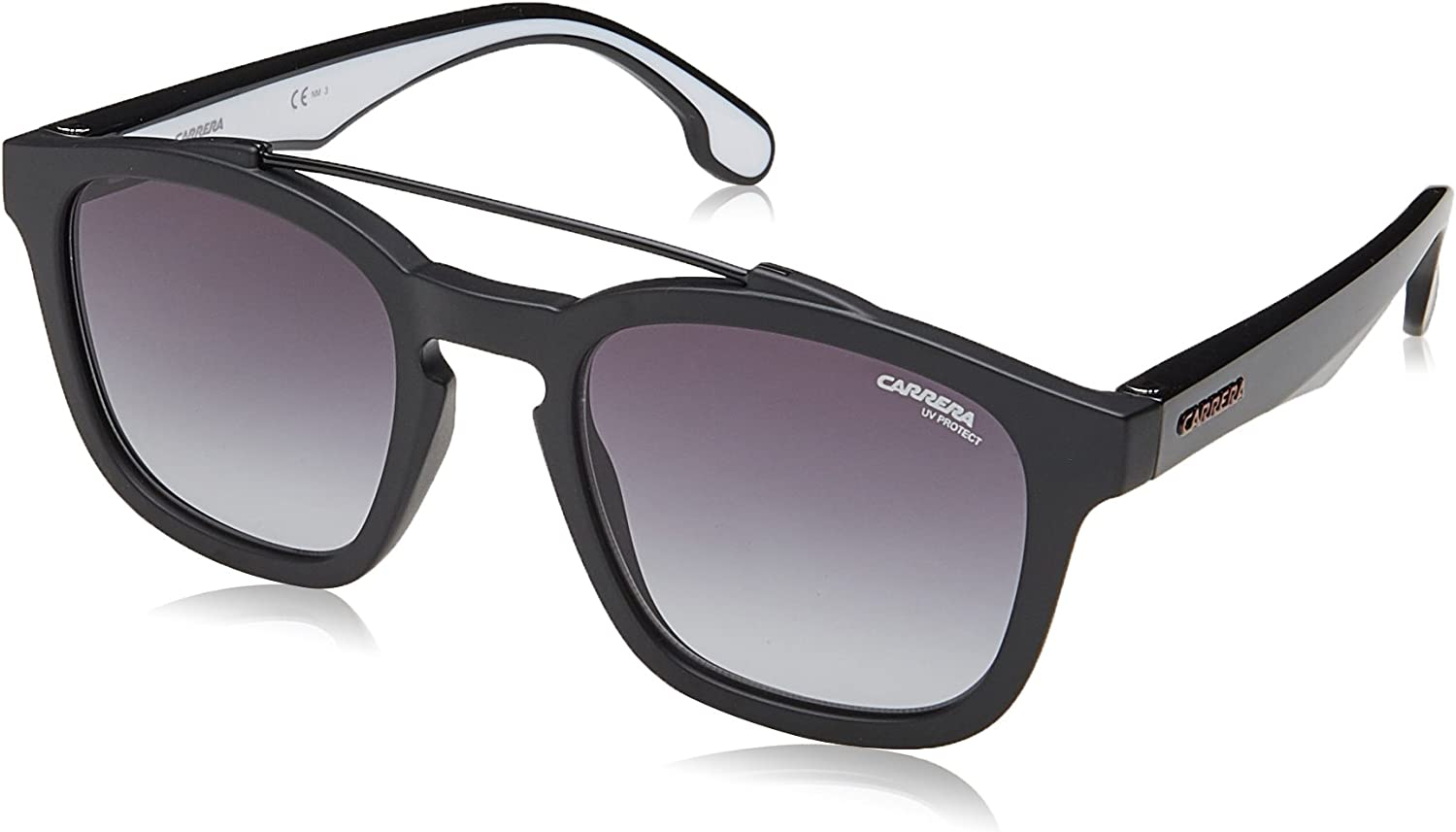 Carrera 1011 s Square Sunglasses MTT BLACK 52 mm