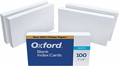 5x8 unruled index cards