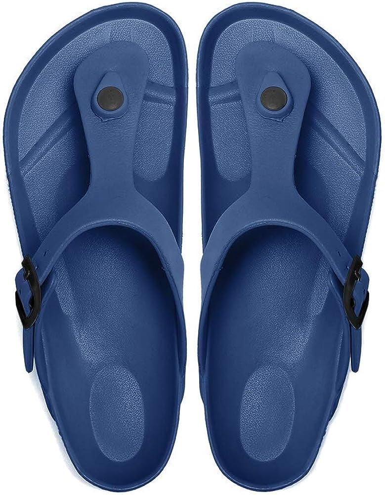 Lancholy Womens Flat Sandals Comfort Footbed Slippers Adjustable Slides Slip on EVA Shoes