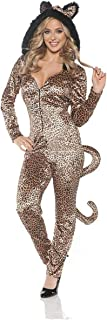 Women's Hooded Leopard Jumpsuit with Tail Costume