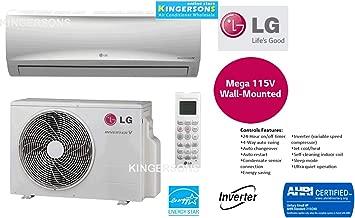 LG TON 12000 BTU SEER 17 Mega Series 115V Single Zone Heat and Cool Mini Split AC Heat Pump System