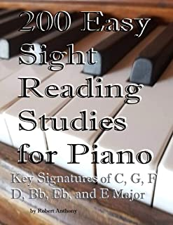 200 Easy Sight Reading Studies for Piano: Key Signatures of
