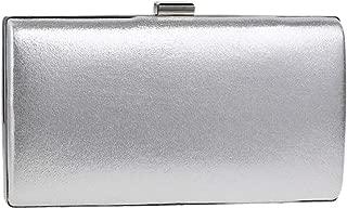 Bag for Womens Clutch Ladies Purse Wallet Dress Chain Evening Bags Wedding PU Silver