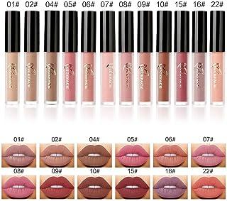 12 Kleuren Matte Mist Liquid Lipstick Set Langdurige Romige Waterdichte Non-Stick Cup Lipgloss