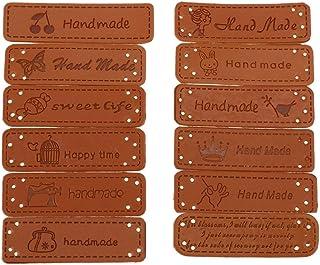 Decorazioni Artigianali con Fori Pulsante Cucire Scrapbooking Abbigliamento Accessori per Jeans Borse Scarpe Cappello MAXGOODS 120 Pezzi PU Etichetta in Pelle a Mano Abbellimenti Ornamenti