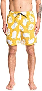 Quiksilver Mens EQMJV03054 Pineapple Web Volley 18 Boadrshort Swim Trunk Board Shorts - Yellow - X-Large