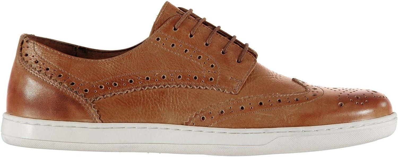 Firetrap Dawson shoes Mens Tan Brown Lace Up Formal Footwear