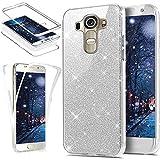 Funda protectora de silicona TPU para LG G4Ikasus, protector para teléfono móvil, carcasa de protección total, color cristal transparente brillante, resistente a los impactos. plata