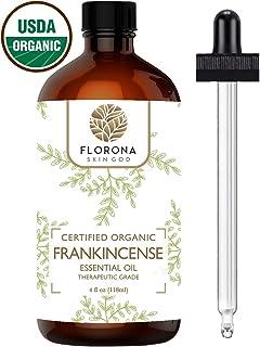 Florona Organic Frankincense Essential Oil, 4oz USDA Certified Organic