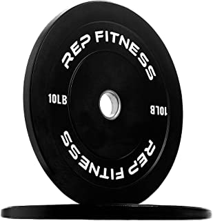 Rep Fitness Bumper Plates for Strength and Conditioning Workouts and Weightlifting