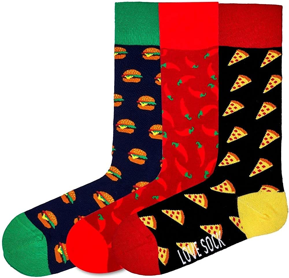 Love Sock Company 3 Pair Colorful Women's NEW before selling Award ☆ D Funky Crew Patterned