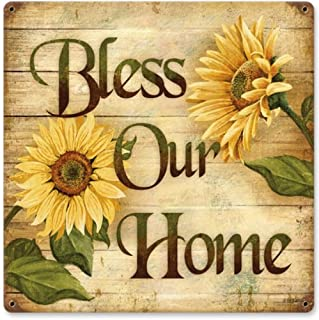 Bless Home Home and Garden Vintage Metal Sign - Victory Vintage Signs