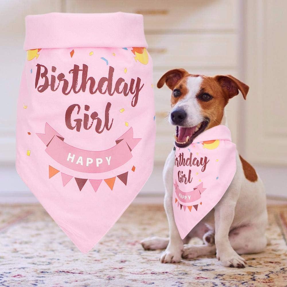 Rosa+Sombrero Bufanda para Mascotas , Tema Personalizado Pet Bandana Bufanda Creativa para Perros Bufanda para Mascotas de cumplea/ños para peque/ños y medianos Perros Grandes Accesorios
