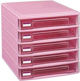 LIUYULONG Armoire de rangement en plastique à 5 tiroirs pour bureau familial, armoire de rangement d'archives de bureau (c...