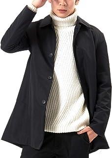 (オリマート) ORI-MART メンズ ジャケット ステンカラー コート トレンチコート ロング アウター 春秋 防風 無地 シンプル カジュアル 大きいサイズ ビジネス