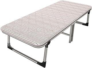 Lit pliant Lits de Camp et hamacs Camp Pliable Chaise De Déjeuner Lit De Rechange Bureau Lit Dur Simple Lit Portatif Plian...