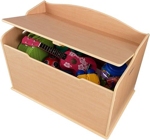 KidKraft 14953 Spielzeug-Truhe Austin aus Holz für Kinder in naturfarben - Aufbewahrungsbox Kinderzimmer M l