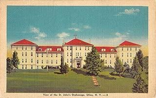 Utica New York St Johns Orphanage Street View Antique Postcard K54167