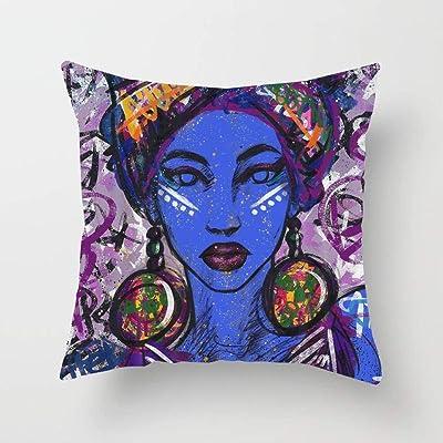 N\A Mujeres africanas (2) Funda de cojín con Funda de Almohada Cuadrada para sofá Dormitorio Coche