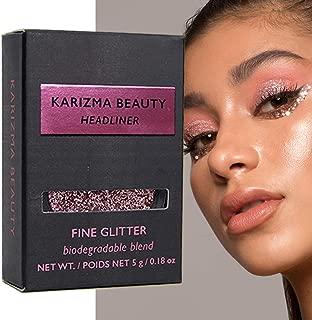 Headliner Biodegradable Fine Glitter // Karizma Beauty Pink Face Glitter Loose Eyeshadow