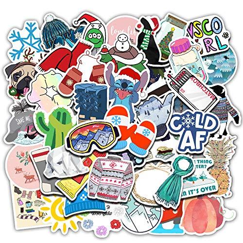 DSSJ 50 Pegatinas de Maleta Fresca pequeña de Invierno Pegatinas de Maleta de Graffiti súper Impermeables