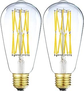 Leools Edison LED Vintage Bulb, 15W Dimmable Filament Light Bulb, ST64 1300 Lumen Neutral White 4000K, 100W-120W Incandescent Equivalent,E26 Medium Base Squirrel Cage Antique Lamp,Pack of 2