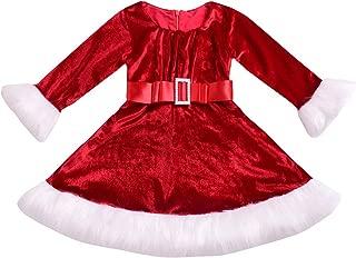 Baby Girls Princess Dress Red Plaid Long Sleeve Playwear