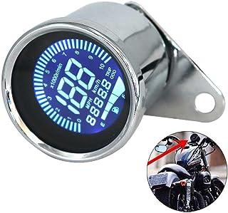 Tickas Universal 12 V Motocicleta Instrumento Modificado Digital Moto Velocímetro Tacômetro Medidor Display LCD (7 cores) ...