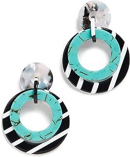 Women's Banded Hoop Earrings
