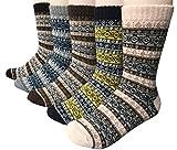 Vellette Calcetines termicos ricos en algodon para Hombre-Muje-Ideales para invierno EU 38-44...