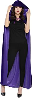 WESTLINK Cloak with Hood Costume Hooded Cape Crushed Velvet for Men Women 23-66inches