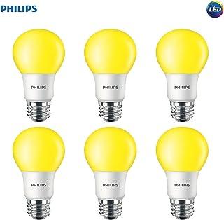 Philips LED 463190 60 Watt Equivalent Yellow A19 LED Bug Light Bulb, 6 Pack, Piece
