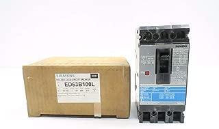 NEW SIEMENS ED63B100 SENTRON SERIES 100A AMP 3P 600V-AC CIRCUIT BREAKER D542232