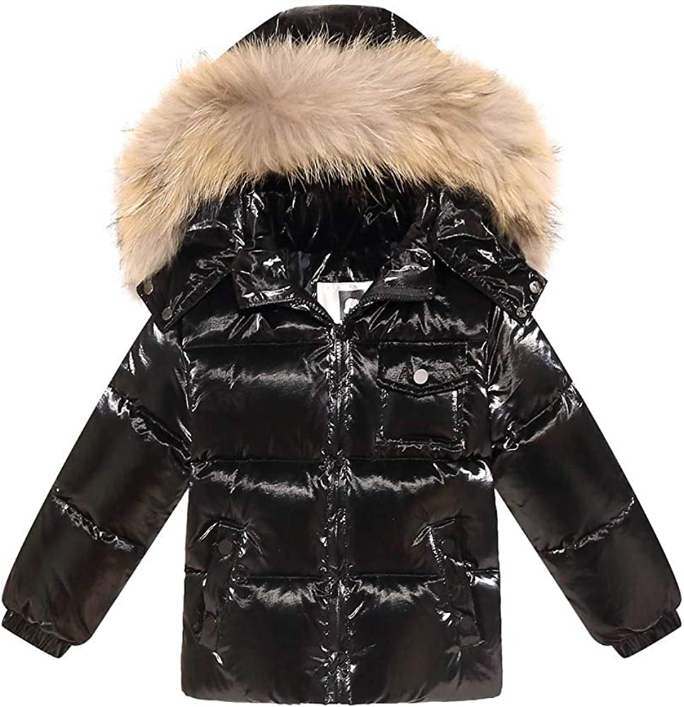 Orangemom Baby Down Jacket Coat Winter Warm Hooded Down Windproof Kids Outerwear