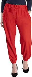 Fraulein Girl's/Women's Rayon Freedom Pants Harem Chudidar Salwar Style Elasticated Closure with Both Sides Front Pockets