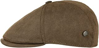 Lierys Coppola Haswell Waxed Cotton Uomo - Made in Italy cap Cappello Piatto Cappellino Outdoor con Visiera, Fodera Autunn...