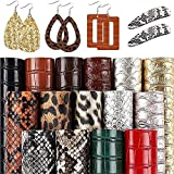 SGHUO 15pcs Faux Leather Sheets Embossed Fabric Sheets for Making Earrings, Bows, Jewelry, Wallet, and DIY Sewing Craft (6.3 Inches x 8.3 Inches)